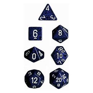 Polyhedral 7-Die Speckled Dice Set - Stealth