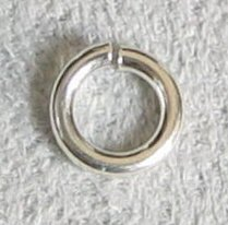 20 pcs Open Jump Rings 925 Sterling Silver Wire 5mm 19ga / Findings / Bright