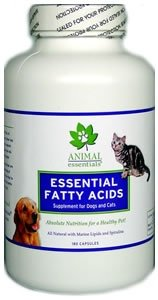 Animal Essentials Fish Oil Plus for Dogs and Cats, 180 Capsules