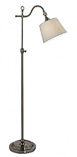 Markslojd Torquay Floor Lamp Black Effect Antique Brass Base Beige Shade