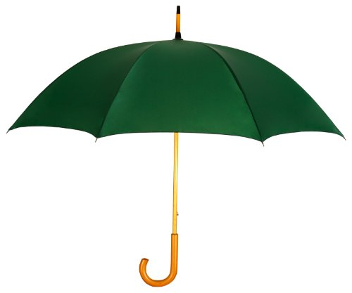 hunter-green-fashion-umbrella-with-genuine-wood-shaft-handle-lifetime-warranty