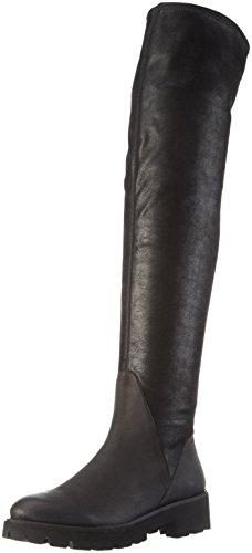 SPM Atlas Overknee-Unlined Shaft+P - Stivali sopra il ginocchio con imbottitura leggera Donna, Nero (Black/Black), 37 EU