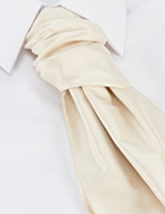 Pure Silk Wedding Cravat with Handkerchief