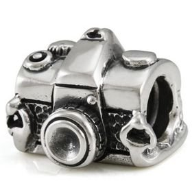 Classic Photography Camera 925 Solid Sterling Silver Authentic Ohm Bead fits European Charm Bracelet
