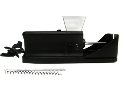 Black Cigarette Tobacco Electric Rolling Roller Injector Tube Machine 110V
