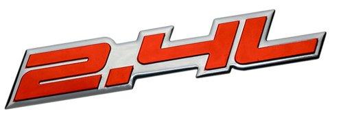 2.4L Liter Embossed RED on Highly Polished Silver Real Aluminum Auto Emblem Badge Nameplate for Saturn Sky Buick Regal Lacrosse CXL Pontiac Solstice Grand AM Sunfire GT Chrysler 200 PT Cruiser Sebring Chevrolet Malibu Equinox LT HHR Cobalt Cavalier Captiva GMC Terrain SLE Dodge Dart Avenger Caliber Caravan Journey SXT Express Stratus NEON SRT4 Jeep Compass Latitude Patriot Sport Wrangler Liberty Cherokee SUV Sport Utility sedan coupe FWD AWD 4WD 2dr 3dr 4dr hatchback (Transformer Gmc Emblem compare prices)
