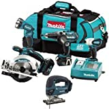 MAKITA LXT400 18.0V Cordless 4 Piece Kit Plus BJV180Z