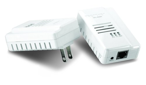 TRENDnet 200 Mbps Compact Powerline Ethernet AV Adapter Kit TPL-306E2K (White)