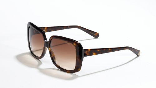 Velvet Eyewear Joni Tortoise Frame / Brown Fade Lens Square Sunglasses