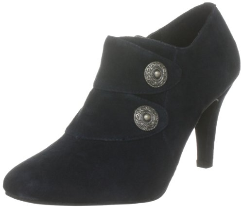 Lotus Women's Hampden Navy Suede Booties Heels 50060 6 UK