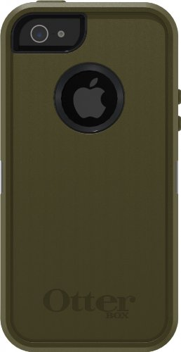 Special Sale Otterbox Defender Case with Holster for iPhone 5 ONLY - Not compatible with iPhone 5s - AT&T Packaging - Army Green/Black