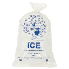IC1120 - Plastic Ice Bag - 8 LB -Penguin Logo