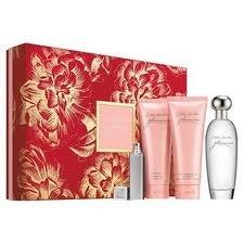 Estée Lauder Pleasures Coffret cadeau comprenant une eau de parfum en flacon vaporisateur 100ml/ un lait corporel 100ml/ gel douche 100ml/ mini-flacon de parfum 4ml
