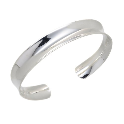 Silver B1047 Solid Concave Torque Bangle