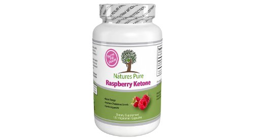Natures Pure Raspberry Ketones 120 Veggie Caps, Dual Fat Burner, Weight Loss Supplement, Appetite Control, No Artificial Ingredients, No Fillers, No Binders