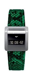 Ventura Ladies Miss V Digital Watch W 30 L4 with Durinox Case and Green Python Strap