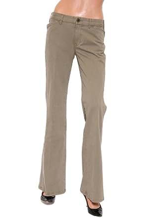 Women's Textile Elizabeth and James Diana Twill Pant in Green Khaki Size 28