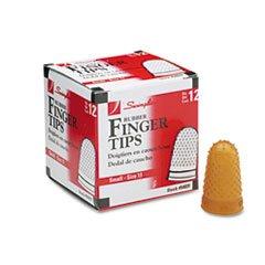 * Rubber Finger Tips, Size 11, Small, Amber, 1/Dozen