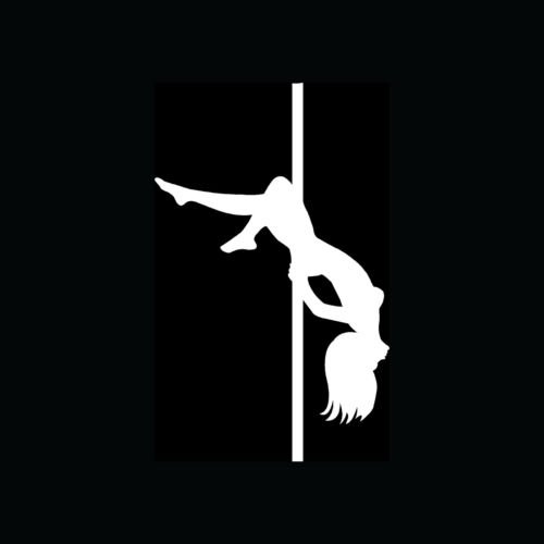 SEXY POLE DANCER Sticker Girl Hot Woman Vinyl Decal Strip Naked Club Fitness S4 - Die cut vinyl decal for windows, cars, trucks, tool boxes, laptops, MacBook - virtually any hard, smooth surface