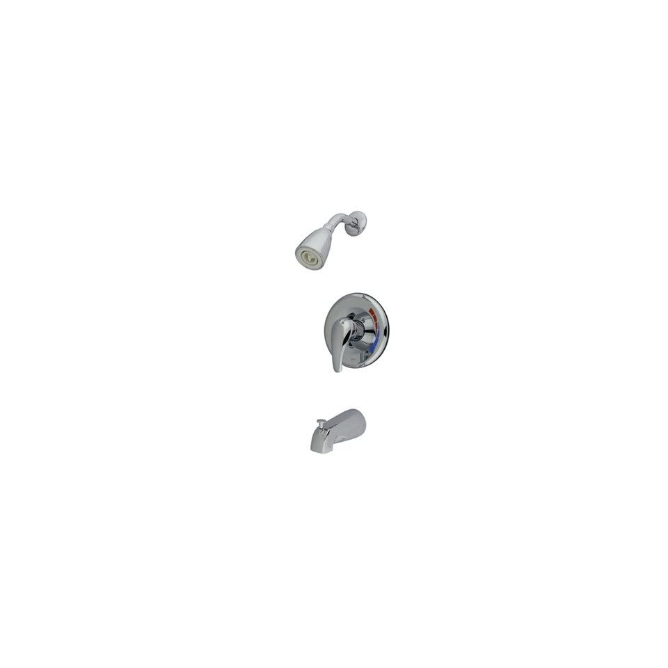Diverter Tub and Shower Faucet with Metal Lever Handles Finish Polished Chrome