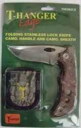 T-Hanger Knife -Edge The Whitetail Folding Lockback