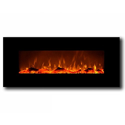 Gibson Living Authorization 50 Inch Electric Wall Mounted Fireplace in Black