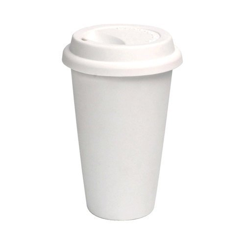 100 Sets 16 oz Paper Coffee Cup Solo Disposable White Hot Cup with Cappuccino LIDS (16oz Coffee Cups 100 compare prices)