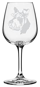 Dog Themed Etched 12.75oz Libbey Wine Glass