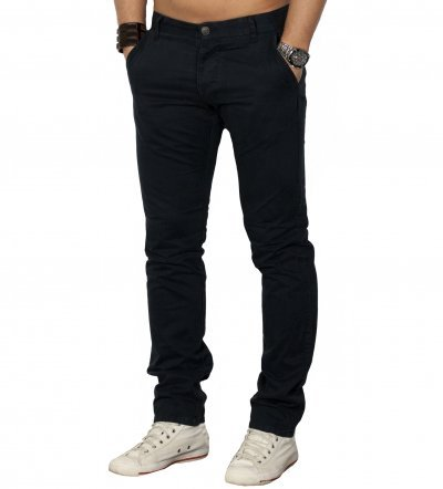 Bolton Edward black navy Jack and Jones Chino Hose, Herren, Pants, Gr. W32/L30, black navy