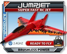 Cheap Jump Jet Electric RTF RC Plane w/ 2.4 GHZ Radio, NEW!