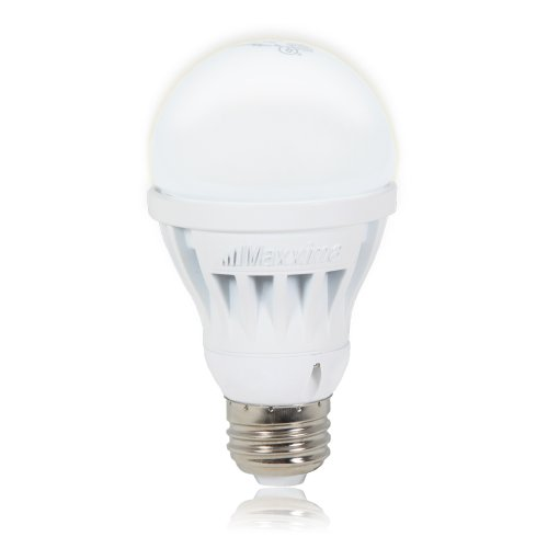 Maxxima A19 Led Light Bulb 650 Lumens 8 Watts Cool White, 50 Watt Replacement