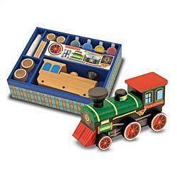 Melissa & Doug Wooden Train -DYO - Buy Melissa & Doug Wooden Train -DYO - Purchase Melissa & Doug Wooden Train -DYO (Melissa & Doug, Toys & Games,Categories,Play Vehicles,Wood Vehicles)