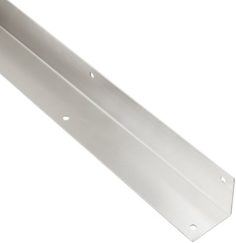 "Rockwood 295.32D 2 X 2 X 40 Stainless Steel Square Corner Guard, 2"" x 2"" Edge, 40"" Height, Satin Finish"