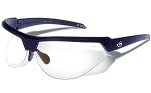 Gargoyles Performance Eyewear Cardinal PR Polycarbonate Safety Glasses, Matte Black Frame/Clear Lenses