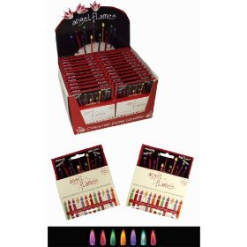 12 Amazing Coloured Flame Birthday Party Candles from Glosticks