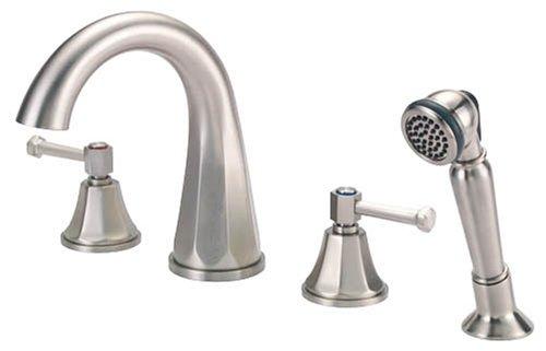 Danze Brandywood High Rise Spout Double Handle Roman Tub Faucet With Salve An