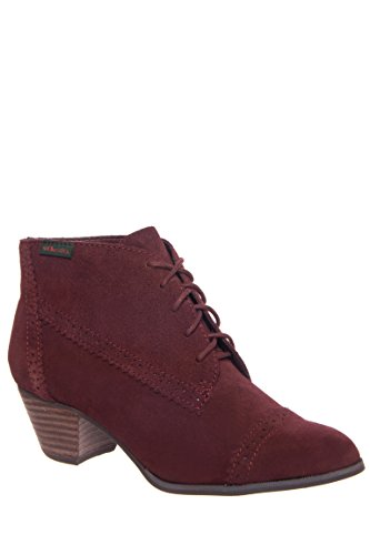 Porter Lace-Up Low Heel Bootie