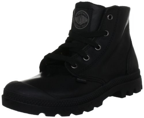 PALLADIUM Women's Pampa Hi Leather-w Black Walking Shoe 92355-001-M 5 UK