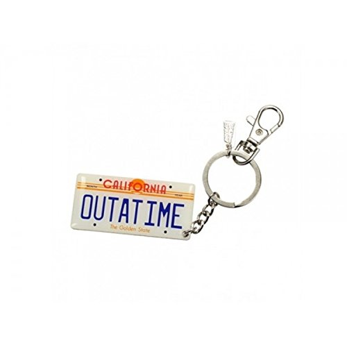 Back to the Future Metal Keychain Car Plate 7 cm Toys Portachiavi
