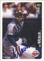 Matt Walbeck Minnesota Twins 1996 UD Collectors Choice Autographed Hand Signed... by Hall+of+Fame+Memorabilia