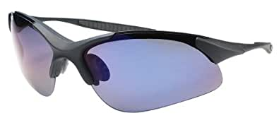 Polarized Sunglasses for Fishing, Cycling, Golf, Kayaking Superlight Tr90 Frame JMP44 (Black & Blue)