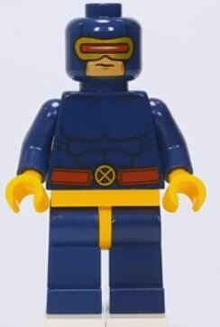 Lego 2014 Marvel X-men Cyclops minifigure - 1
