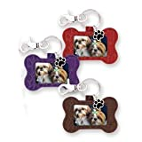 Doggy Pride Dog Bone Shaped Photo Holder Keychain