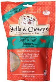 Stella & Chewy's Freeze Dried Surf & Turf (Beef and Salmon) Dinner for Dogs, 15 ounce ( 2 Pack )