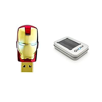 Quace Red Metal Face Glowing Eyes Cool Fancy USB Flash 32 GB Pen Drive