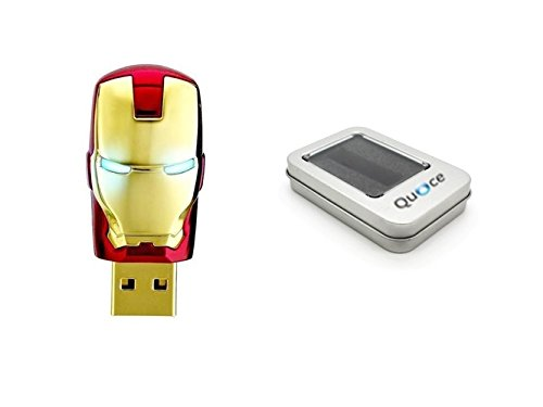 Quace 16GB Iron Man With LED Designer Pen Drive LED Eyes