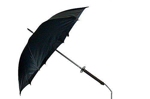 """38.5"""" Black Umbrella With Fantasy Swords Handle"""