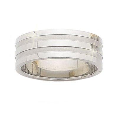 Bague homme anneau 8 mm classique acier inoxydable for Taille baignoire classique