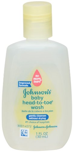 Johnson's Baby Head-to-Toe Wash, 1 Ounce (Pack of 6)