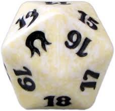 MTG Spindown D20 Life Counter - Born of the Gods White